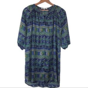 Collective Concepts Dresses - Collective Concepts Green Geometric Printed Dress
